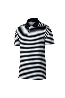 Show details for Nike Golf Men's Dri-Fit Victory Striped Polo Shirt - Black / Gridiron / White 010
