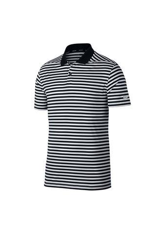 Picture of Nike Golf Men's Dri-Fit Victory Striped Polo Shirt - Black / Gridiron / White 010