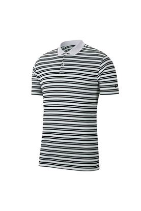 Show details for Nike Golf Men's Dri-Fit Victory Striped Polo Shirt - White / Pure Platinum / Black / Black