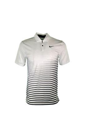 Show details for Nike Golf Men's Dri - Fit Vapor Graphic Polo Shirt - White 100