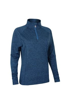 Show details for Island Green Ladies Zip Neck Mid Layer - Blue Yonder