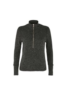 Show details for Swing out Sister Ladies Evelyn 1/4 Zip Turtle Neck Sweater - Iron Gate