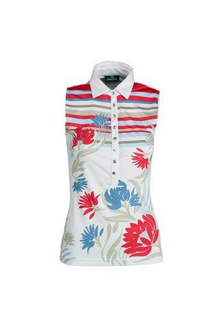 Picture of Daily Sports Ladies Trixie Sleeveless Polo Shirt - White