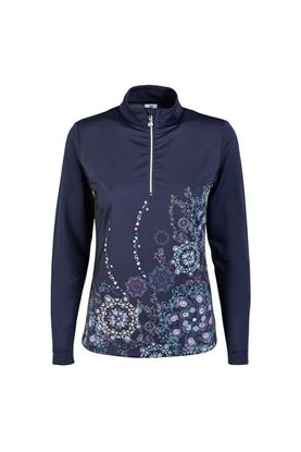 Show details for Daily Sports Ladies Trisha Long Sleeve Top - Navy