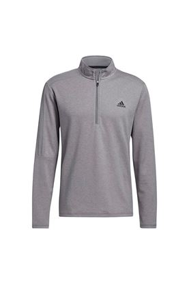 Show details for adidas Men's 3 Stripe 1/4 Zip Sweater - Grey Three Melange