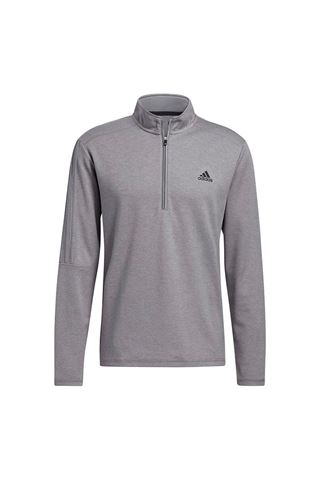 Picture of adidas Men's 3 Stripe 1/4 Zip Sweater - Grey Three Melange