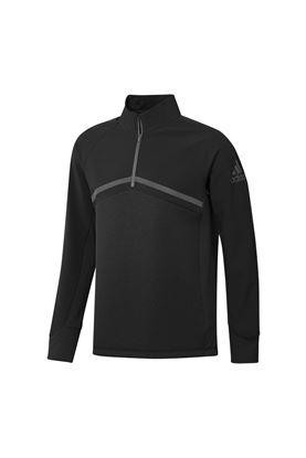 Show details for adidas Men's Hybrid 1/4 Zip Jacket - Black