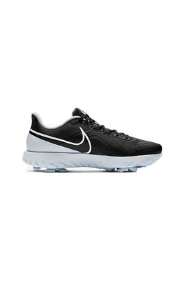 Show details for Nike Golf React Infinity Pro Golf Shoes - Black / White / Metallic Platinum