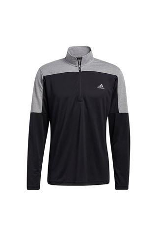 Picture of adidas Men's Lightweight Quarter Zip Sweatershirt - Black Melange