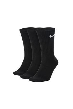 Show details for Nike Golf Everyday Lightweight Crew Socks - 3 Pack - Black