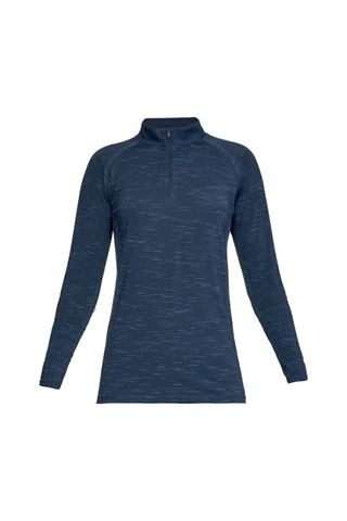Picture of Under Armour UA Ladies Tour Tips 1/4 Zip Top - Blue 408