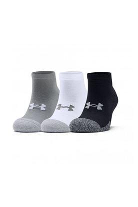 Show details for Under Armour UA Heatgear Lo Cut Socks - 3 Pack - Black / White / Grey