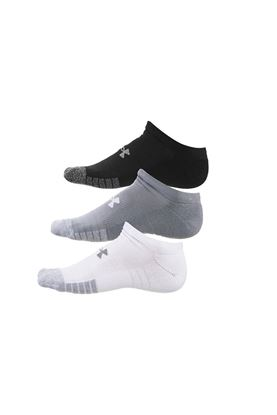 Show details for Under Armour UA Heatgear No Show Socks - 3 Pack - Black / White / Grey