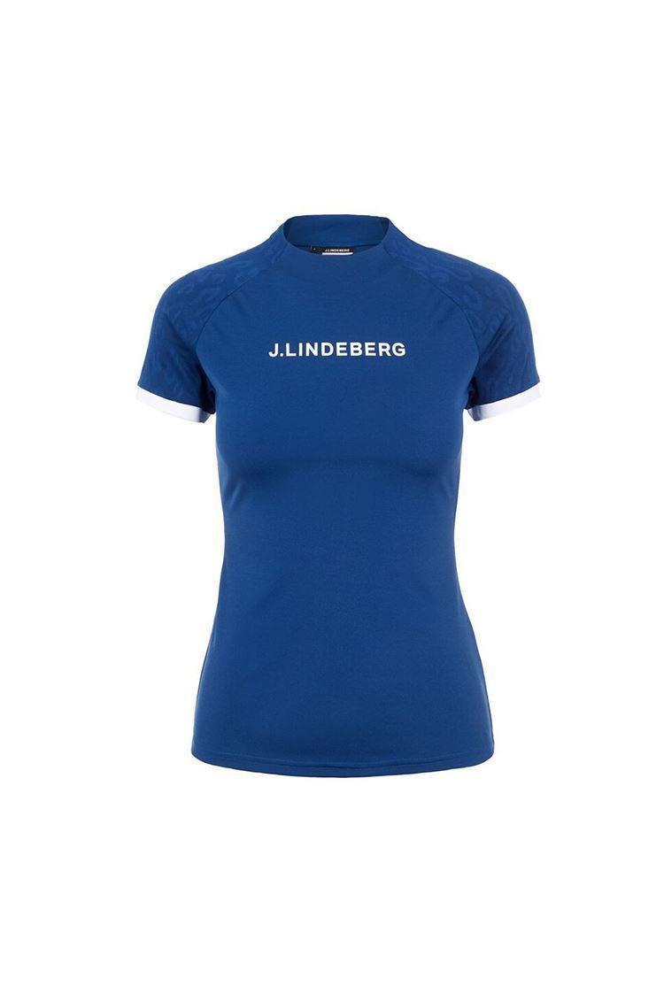 Picture of J.Lindeberg Ladies Megan Golf Top - Midnight Blue