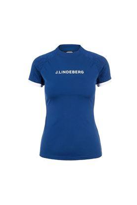 Show details for J.Lindeberg Ladies Megan Golf Top - Midnight Blue
