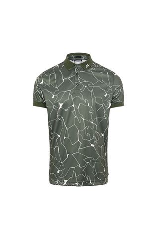 Picture of J.Lindeberg Men's Tour Tech Regular Fit Print Polo Shirt - Thyme Green