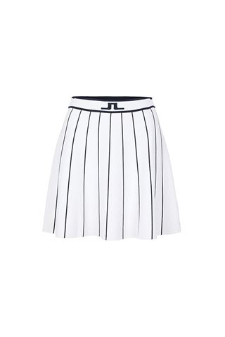Picture of J.Lindeberg Ladies Bay Knitted Golf Skirt - White