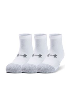 Show details for Under Armour UA Heatgear Lo Cut Socks - 3 Pack - White