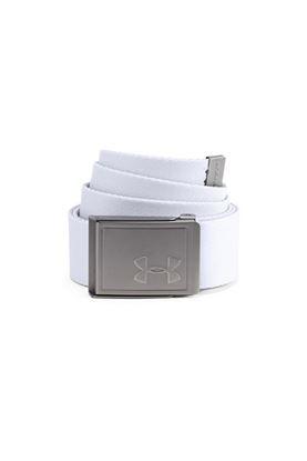 Show details for Under Armour UA Men's Reversible Webbing Belt - White 100