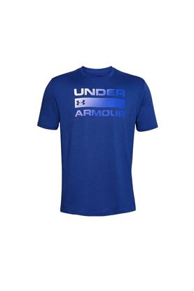 Show details for Under Armour Men's UA Team Issue Wordmark Short Sleeve T-Shirt - Blue 449