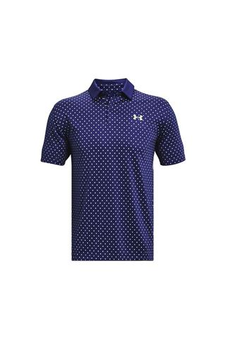 Picture of Under Armour zns Men's UA Performance Printed Polo Shirt - Blue 415