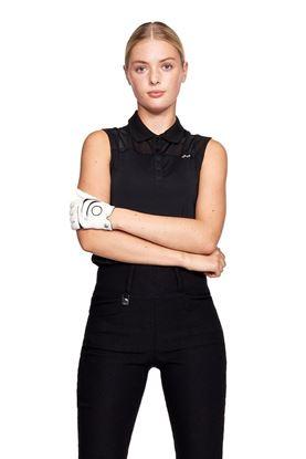 Show details for Rohnisch Ladies Miko Sleeveless Polo Shirt - Black