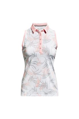 Show details for Under Armour Women's UA Zinger Sleeveless Polo Shirt - White / Beta Tint