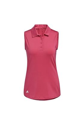 Show details for adidas Women's Ultimate 365 Solid Sleeveless Polo Shirt - Wild Pink
