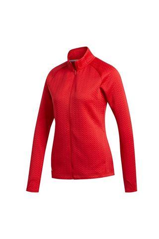 Picture of adidas zns Women's Textured Full Zip Layer Jacket - Collegiate Red