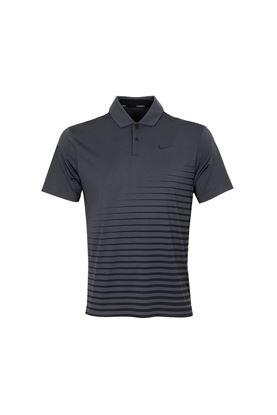 Show details for Nike Golf Men's Dri - Fit Vapor Graphic Polo Shirt - Smoke Grey / Black 070