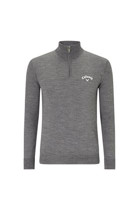 Show details for Callawy Golf Men's 1/4 Zip Blended Merino Sweater - Steal Heather
