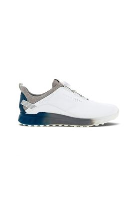 Show details for Ecco Golf Men's S-Three Boa Golf Shoes - White / Seaport