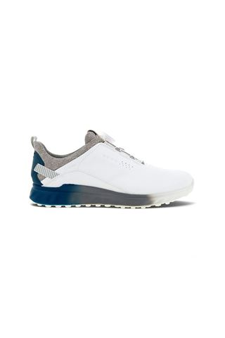 Picture of Ecco Golf Men's S-Three Boa Golf Shoes - White / Seaport