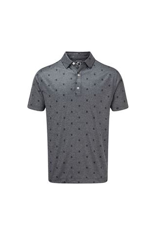 Picture of Footjoy Men's Smooth Pique with FJ Tonal Print - Navy