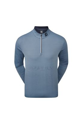 Show details for Footjoy Men's Lightweight Microstripe Chill-Out Sweater - Navy / Lagoon