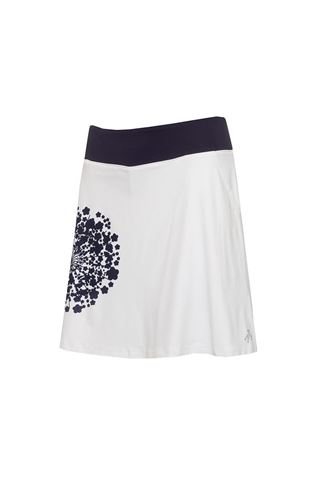 Picture of Green Lamb Ladies Molly Printed Flared Skort - Dandelion