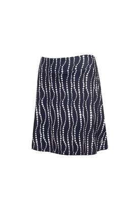 Show details for Green Lamb Ladies Molly Printed Flared Skort - Mono / White