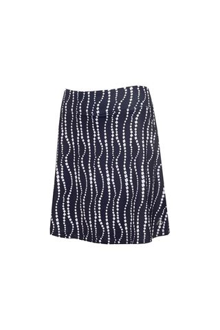 Picture of Green Lamb Ladies Molly Printed Flared Skort - Mono / White