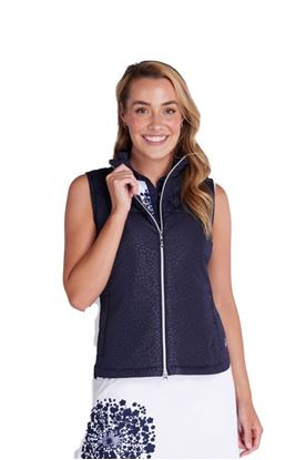 Show details for Green Lamb Ladies Khloe Quilted Padded Gilet - Navy