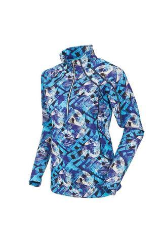 Picture of Sunice Ladies Megan 1/4 Zip Pullover - Violet Blue Flash Print