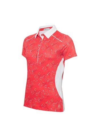 Picture of Green Lamb Ladies Ember Printed Panels Polo Shirt - Diamonds