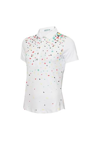 Picture of Green Lamb Ladies Elsa Print Polo Shirt  Triangle
