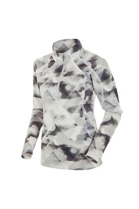 Show details for Sunice Ladies Megan 1/4 Zip Pullover - Oyster Shadow Print