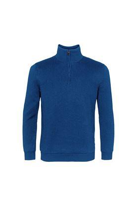 Show details for Island Green Men's Fine Knit 1/4 Zip Sweater  - Marine Blue
