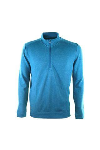 Picture of adidas Men's Wool Mix Quarter Zip Sweater - Petrol Night
