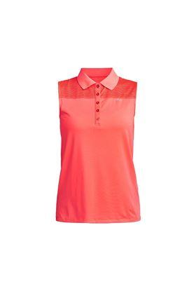 Show details for Rohnisch Ladies Miko Sleeveless Polo Shirt - Neon Pink