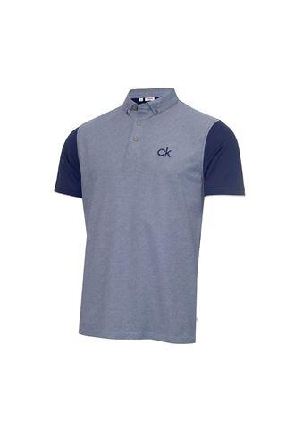 Picture of Calvin Klein Men's Hagan Pique Polo Shirt - Navy