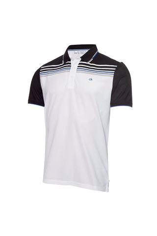 Picture of Calvin Klein Men's Nelson Polo Shirt - White / Black