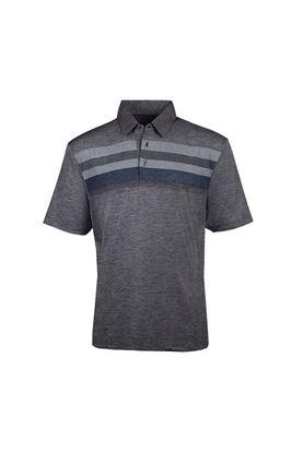 Show details for Island Green Men's Yarn Dyed Marl Polo Shirt - Grey Marl