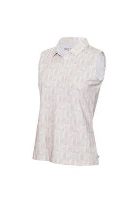 Show details for Calvin Klein Ladies Avon Sleeveless Polo Shirt - Fossil